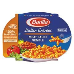 Italian Entree, Gemelli with Meat Sauce, 9 oz, Microwavable Tray, 6/Carton