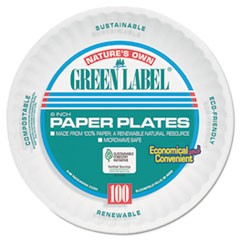 Uncoated Paper Plates, 6 Inches, White, Round, 1000/Carton