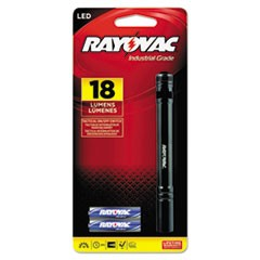 Industrial LED Pen Light, 2 AAA Batteries, Machined Aluminum, 1.5 V