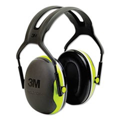 PELTOR X4 Earmuffs, 27 dB NRR, Fluorescent Yellow-Green, 10/Carton
