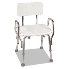 "Shower Chair with Arms, White, 21"" x 21 x 32"