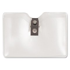 Security ID Badge Holder, Horizontal, 3 1/2w x 2 1/2h, Clear, 50/Box