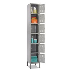 Box Locker, 12w x 18d x 78h, Two-Tone Gray