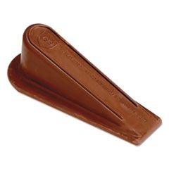 XL Rubber Door Stop, 4 3/4 x 2, Brown