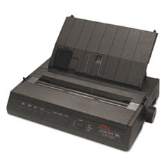 Microline 186 Parallel 9-Pin Dot Matrix Printer, Black