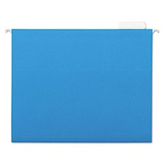 7530013649499 Hanging File Folder, Letter Size, 1/5 Cut Top Tabs, Blue, 25/Box