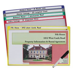 Write-On Project Folders, Legal, Assorted Colors, 25/BX