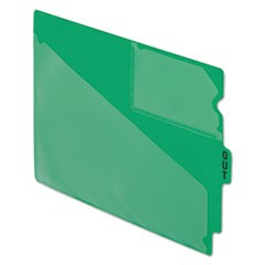 "End Tab Poly Out Guides, Center ""OUT"" Tab, Letter, Green, 50/Box"