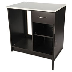 Hospitality Base Cabinet, One Door/Drawer, 36 x 24 x 36, Gray/Granite Nebula