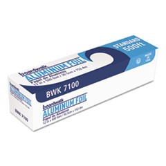"Standard Aluminum Foil Roll, 12"" x 500ft, 14 Micron Thickness, Silver"