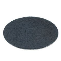 "Standard 12"" Diameter Stripping Floor Pads, Black, 5/Carton"