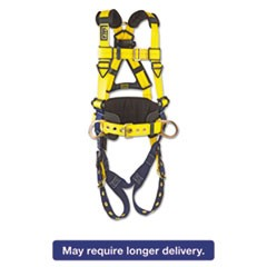 Full-Body Harness, Tongue Buckles, Side/Back D-Rings, X-Large, 420lb Capacity