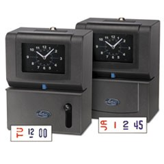 Heavy-Duty Time Clock, Mechanical, Charcoal