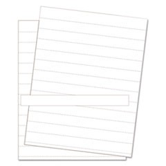 Data Card Replacement Sheet, 8 1/2 x 11 Sheets, White, 10/PK