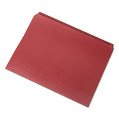 7530013649484 Straight Cut File Folders, Red, Letter, 100/BX