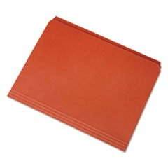 7530013649506 Straight Cut File Folders, Orange, Letter, 100/BX