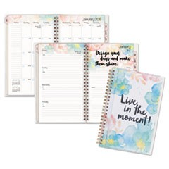 B-Positive Desk Weekly/Monthly Planner, Live In The Moment, 5 3/8 x 8 1/8, 2018