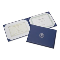 7510004822994, Award Certificate Binder, 8 1/2 x 11, Navy Seal, Blue/Gold