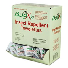 Insect Repellent Towelettes Box, DEET, 50/Box