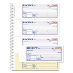 TOPS Money/Rent Receipt Book, 7 1/8 x 2 3/4, 2-Part Carbonless, 200 Sets/Book