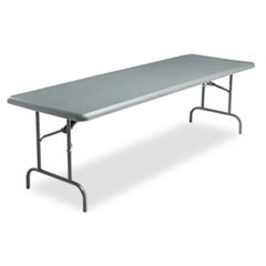 IndestrucTables Too 1200 Series Folding Table, 96w x 30d x 29h, Charcoal