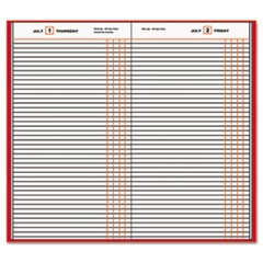 Standard Diary Recycled Daily Journal, Red, 7 11/16 x 12 1/8, 2016